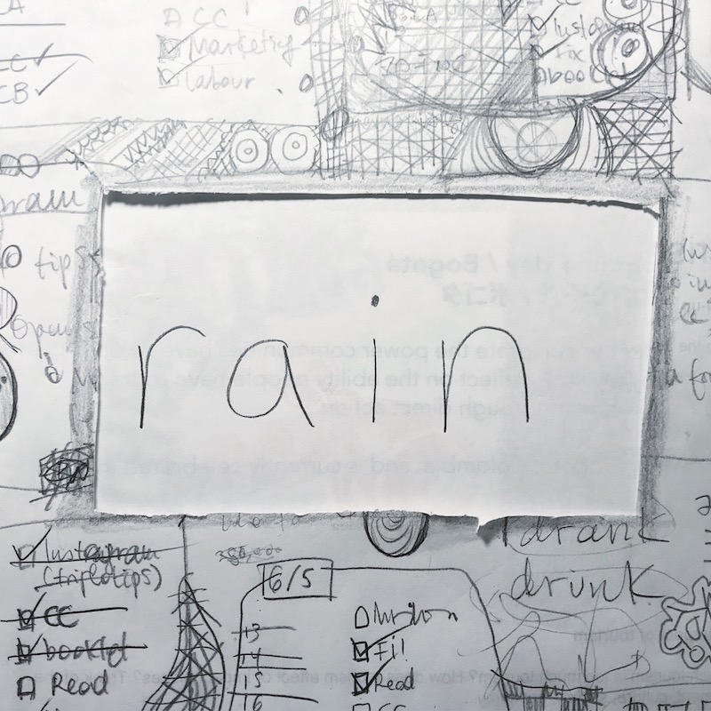 triplo word of the week - rain