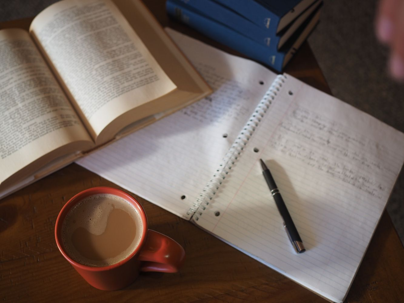 How to study at home - desk & coffee