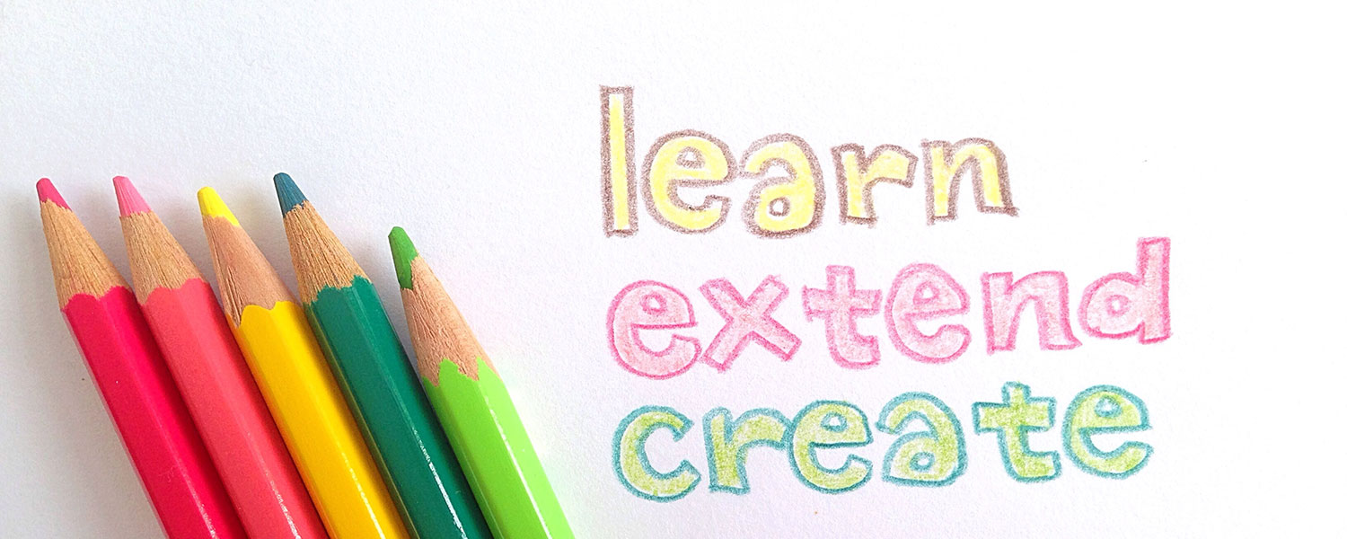 learn, extend, createの意味とは?